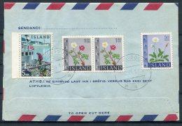 1957/1962/1966 Iceland Aerogramme, Aerogram, Loftbref. Reykjavik Postur. Registered Kopavogur - Entiers Postaux