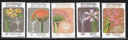 Botswana, Scott # 193-7 MNH Christmas, Flowers, 1977 - Botswana (1966-...)
