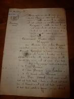 1835 Important Manuscrit Notarié Avec Cachets Concerne Donation Et Partage Entre Enfants PERRAULT - Manuscrits