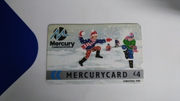 Mercury-(8merg)-christmas-gpt Card-(4)-(4£)-used Card+1card Prepiad Free - United Kingdom