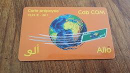 CARTE PRÉPAYÉE CAB COM 15,24 € ALLO - France