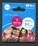 """Carte Prépayée """"Lebara Mobile"""" Dans Son Encart D'origine Scellé 1€ + 100Mo - France"""