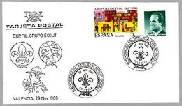 Exp.Filatelica GRUPO SCOUT. Valencia 1988 - Movimiento Scout