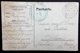 CP Prisonnier De Guerre Camp D'Officiers De HEIDELBERG Aout 1917 Vers Méthamis Vaucluse - WW I