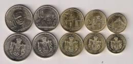 Serbia 2012. Complete Coin Set 1 - 2 - 5 - 10 - 20 Dinara 2012.  UNC - Serbie