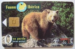 B 44/1 - FAUNA IBERICA - OSO - CHIP F4 Nº LASER - Nº PEQUEÑOS - USADA - 1ª CALIDAD - A 293 - Spain
