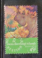COCOS ISLAND Scott # 319 Used - Young Rhino - Cocos (Keeling) Islands