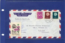 ##(DAN183) ESPERANTO-Nederland-1961-Esperanto Cover From Utrecht To Pisa (Italy) With Esperanto Labels - Esperánto