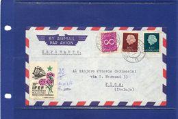 ##(DAN183) ESPERANTO-Nederland-1961-Esperanto Cover From Utrecht To Pisa (Italy) With Esperanto Labels - Esperanto