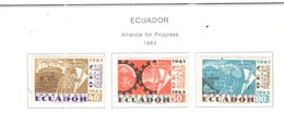 Ecuador PO 1964 Alleanza Progresso Scott.715/717 See Scans On Scott.Pages - Ecuador