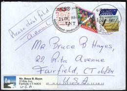 Netherlands Barendrecht 2007 / Letter Sent To USA - 1980-... (Beatrix)