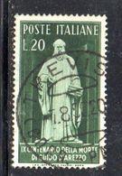 Y2124 - REPUBBLICA 1950 ,  20 Lire  Sassone N. 626  Usato . D'Arezzo - 6. 1946-.. Repubblica