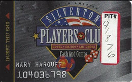 Silverton Casino - Las Vegas, NV - 1st Issue Slot Card / Pit# Sticker - Casino Cards
