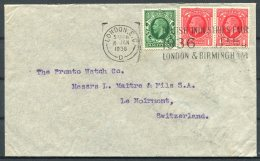 1936 GB KG5, 'British Industries Fair London & Birmingham' Cover Bornand Freres - Watch Co. Moirmont, Switzerland - 1902-1951 (Kings)