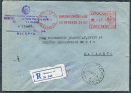 1961 Beograd Belgrade Franking Machine, Meter Mark Registered Cover. - 1945-1992 Socialist Federal Republic Of Yugoslavia