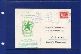 ##(DAN183) ESPERANTO-Hungary-1962-Esperanto  Postcard From  Budapest  To Pisa (Italy) - Esperanto