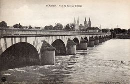 CPA MOULINS - VUE DU PONT DE L'ALLIER - Moulins