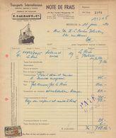 1950:Facture D'## Ag. En Douane F. HALBART&Cie, Rue Vanden Boogaerde,19, BR. ## Aux ## Ets.BECKER, Rue Masui, 220, BR.## - Transport