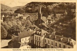 - LAROCHETTE - Eglise Et Hôtel De La Poste Pris De La Teiperlay  -14280- - Larochette