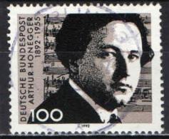 GERMANIA - 1992 - CENTENARIO DELLA NASCITA DI SRTUR HONEGGER (1892-1955) - COMPOSITORE - USATO - Oblitérés