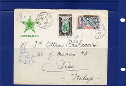 ##(DAN183) ESPERANTO-France -1960-Esperanto Cover From  Cosne-sur-Loire  To Pisa (Italy) - Esperanto