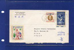 ##(DAN183) ESPERANTO-U.S.A. -1961-Esperanto Cover From  Passaic  To Pisa (Italy) With Garfield Lions Club Label On Back - Esperanto