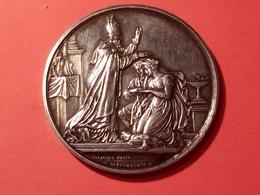 MÉDAILLE DE MARIAGE EN ARGENT 1875  GRAVEUR DEPHYMAURYN .D.  Diamètre 41 Mm  31.59 Grammes - France
