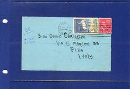 ##(DAN183) ESPERANTO-U.S.A.-1961-Esperanto Postcard From New York  To Pisa (Italy) With  Esperanto Label On Back - Esperanto
