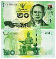 THAILAND 2013 20 BATH UNCIRCULATED - Thailand