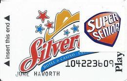 Silverton Casino - Las Vegas, NV - 2nd Issue Slot Card / No Text Over Mag Stripe / Super Senior - Casino Cards