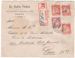 1933, Registered Letter PORTO - PARIS - Non Classés