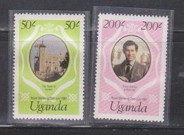 UGANDA Scott # 315-6 MNH - Royal Wedding Of Charles & Diana - Oeganda (1962-...)