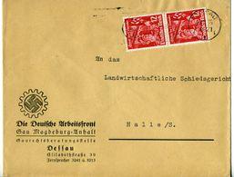 44932 - Germany / Third Reich - 1935 - 2@12Pfg. November Uprising On Cvr. From DESSAU To Halle - Deutschland