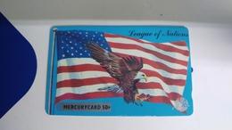 Mercury-(18merd075863)-amrican Eagle-gpt Card-(26)-(50p)-used Card+1card Prepiad Free - [ 4] Mercury Communications & Paytelco