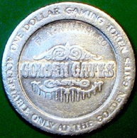 $1 Casino Token. Golden Gates, Black Hawk, CO. D27. - Casino