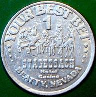$1 Casino Token. Stagecoach, Beaty, NV. D27. - Casino