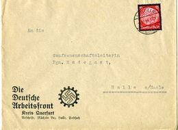 44931 - Germany / Third Reich - 1934 - 12Pfg. Hindenburg Mourning On Cvr. From MUECHELN To Halle - Deutschland