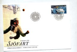 Lettre Fdc 1998 Port Sjofart - FDC