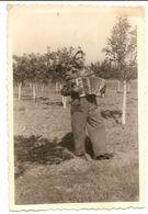 Photo Originale , Gitan Jouant à L'accordéon Dans Le Jardin , Dim 6.0 X 9.0 Cm - Photos