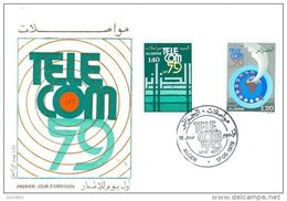 ALGERIE FDC ALGER 17 05 1979 TELECOM 79 UIT - Algeria (1962-...)