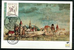 """Österreich,Austria 1990 Künstlerkarte Albrecht Dürer Innsbruck M.Mi.Nr.1978 Und ESST""""500 Jahre Post,Europäische P..""""1 MK - Post"""