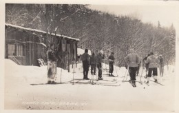 Stowe Vermont Ranch Camp, Ski Scene, C1930s/40s Vintage Real Photo Postcard - United States