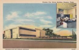 Houston Texas, Houston Fire Alarm Company Building, Architecture, C1940s Vintage Curteich Linen Postcard - Houston