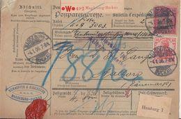 DR Paketkarte Mif Minr.71,77 Magdeburg-Buckau 4.1.06 Gel. Nach Dänemark - Briefe U. Dokumente