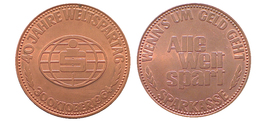 01765 GETTONE JETON TOKEN ADVERTISING ANNIVERSARY 40 JAHRE WELTSPARTAG 30 OKTOBER 1964 - Allemagne