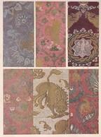TISSURE DE SOIE ANCIENNE ITALIENNE. ETOFFES DE SOIE ANCIENNES ITALLIENNES.-ART LAMINA SHEET PLANCHE-BLEUP - Afiches