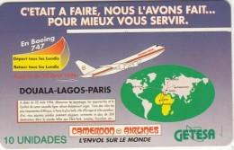EQUATORIAL GUINEA(chip) - Cameroon Airlines, Used - Equatorial Guinea
