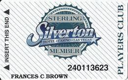 Silverton Casino - Las Vegas, NV - Slot Card / Wide Stripes / CPICA 26940 - Casino Cards