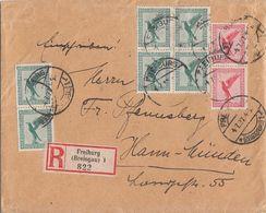 DR R-Brief Mif Minr.6x 378,2x 379 Freiburg 4.7.27 - Briefe U. Dokumente