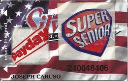 Silverton Casino - Las Vegas, NV - Slot Card / ACC Over Mag Stripe / Super Senior & Pay Day Stickers - Casino Cards